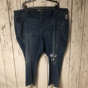 Old Navy Jeans - NWT Old Navy Distressed Jeans Straight Ankle 30